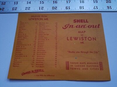 Home Treasure Lewiston Maine Map Change To Shell Advertising Paper Ad Mileage
