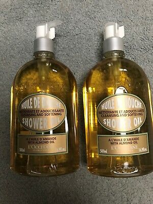 L'OCCITANE Cleansing and Softening Almond Shower Oil - 16.9 fl. oz.-Lot/Set of 2