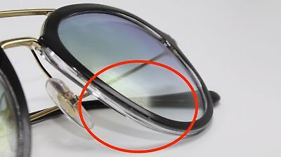 5e5a691e5d RAY BAN HIGHSTREET RB4253 6052Y0 50 DEF Black on Transparent   Gold Gradient  -  98.91