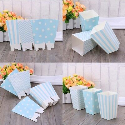 30X Popcorn Paper Box Treat Boxes Bags Candy Container Movie Favour Party