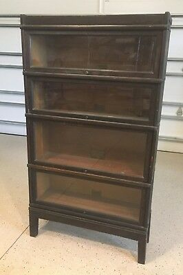 Antique 6 Section Stack Globe-Wernecke Barrister Bookcase Mahogany