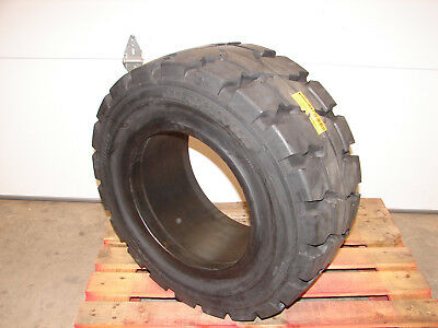 NEW Continental Solid Forklift Tire 355/45-15, 28x12.5-15, Rim 9.75-15 SC18