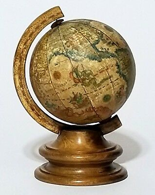 Vintage Alfred Dunhill Old World Zodiac Globe Small Wooden Made in Italy