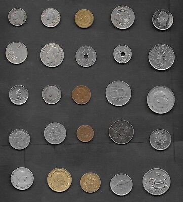 World Coins Lot of 25 different countries - Awesome starter set