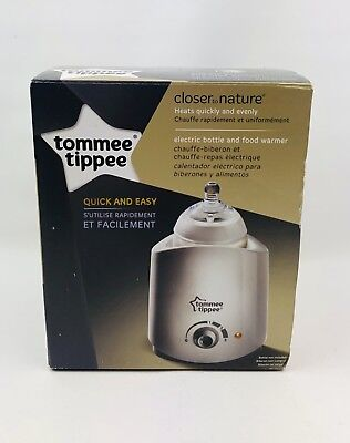Tommee Tippee Closer to Nature Electric Food and Baby Bottle Warmer, White NEW
