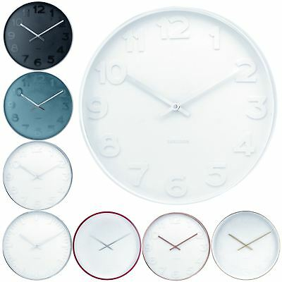 Karlsson Mr. White Black Blue 51cm Wall Clock Modern Stylish Center Piece
