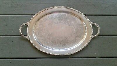 Avon Wm Rogers 3680 17in silver platter serving tray vintage ornate