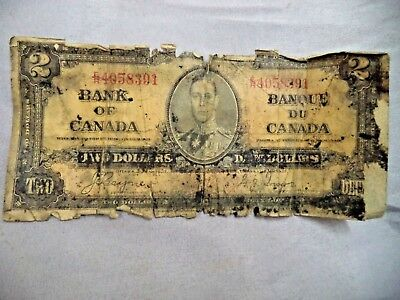 1937 $2 Two Dollars Bank of Canada Bank Note