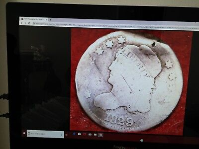 1829 Capped Bust Half Dime,old ,rare & Antique,(1865)