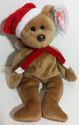 """TY Beanie Babies """"1997 HOLIDAY TEDDY"""" Christmas Bear - MWMT! RETIRED! GREAT GIFT"""