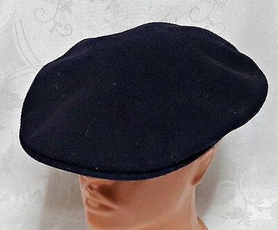 7492205f983 Vintage Authentic Kangol Blue Wool Blend Newsboy Cabbie Cap Hat Us 7 1 2 Eu