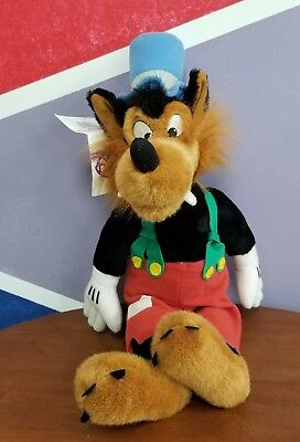 Disney Big Bad Wolf Plush Toy With Tags From The Three Little Pigs