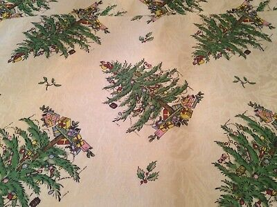 SPODE Christmas Tree Fabric Placemats Set Of 4