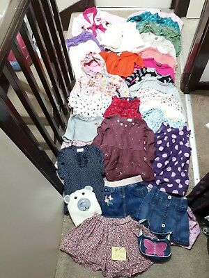 Massive Bundle Of Girls Winter Clothes 2-3years #502 NEXT M&S ZARA F&F JOHN LEWI