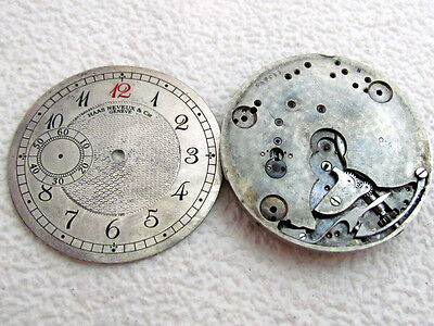 HAAS NEVEUX & Co GENEVE ANTIQUE SWISS WATCH MOVEMENT for REPAIRING & SPARE PARTS