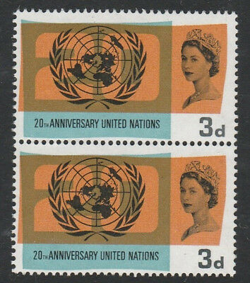 SG 681 , Lake in Russia flaw.20 th Anniversary of united nations 1965 mnh .nhm