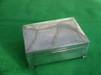 HUGE 1936 BRIGADIER/MP's SOLID STERLING SILVER CIGARETTE/CIGAR BOX 823GRMS !