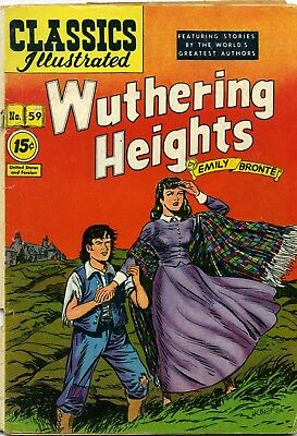 Wuthering Heights by Emily Bronte - Classics Illustrated #59 May 1949 Second Edi