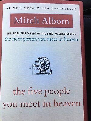 The Five People You Meet in Heaven by Mitch Albom: Brand New Free Shipping