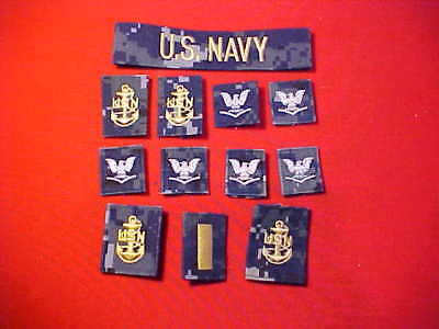 ( 1 ) Lot of 12 US Navy assortment of NWU patches