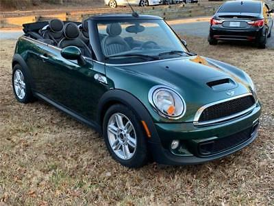 2013 Cooper Cooper S 2dr Convertible 2013 MINI Cooper Convertible S 36,707 Miles Green Convertible 4 Cylinder Engine