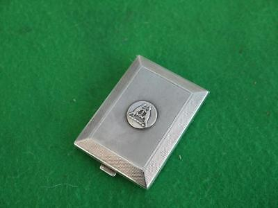 Excellent Antique Sterling Silver Hm 1935 Jubilee Match Book Safe Vesta Case
