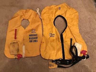 Vintage 1970's Allegheny / US Air Airlines Life Preservers Very Rare