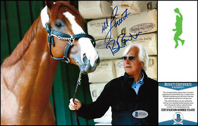 Mike Smith Bob Baffert Autographed Signed 8X10 Photo Picture Justify Beckett Coa