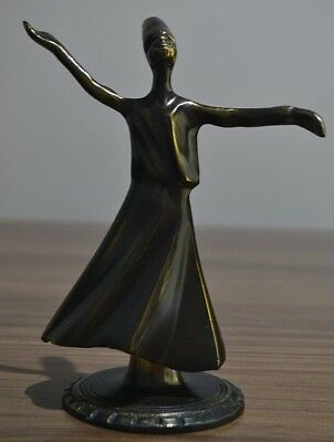 Statue depicting MaulawiaOttoman Of bronze Old and rare