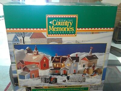 Country Memories Lighted Christmas Village Farm Scene (13 pieces) NEW