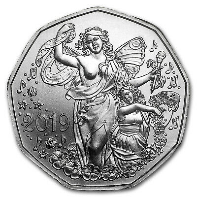 2019 Austria Silver €5 New Year's Joy of Living - SKU#179558