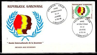 Gabon, Scott cat. 576. International Youth Year issue. First day cover