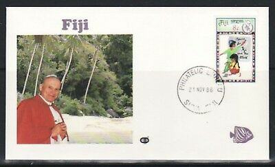 Fiji, 1986 issue. Pope`s Visit Souvenir Cover