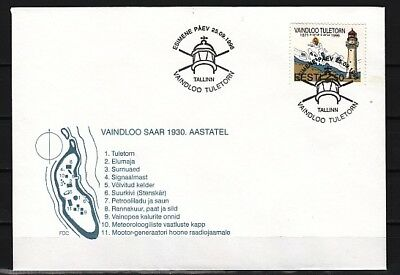Estonia, Scott cat. 309. Vaindoo Lighthouse issue. First day cover