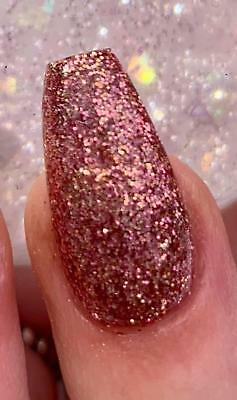 Rose Gold glitter acrylic powder Glitterama Nails Rose Sparkle