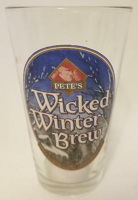 "6"" Tall Pete's Wicked Brew Beer Brewing Company Collector Glass !"