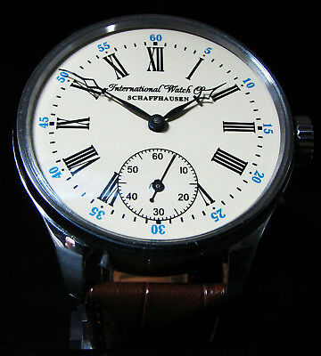 Antique 1895 International Watch Co Schaffhausen IWC large wristwatch