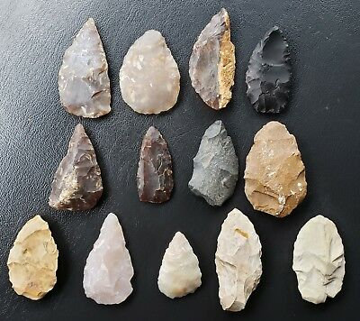 Group of Preforms and Knives - Mostly Knife River Flint