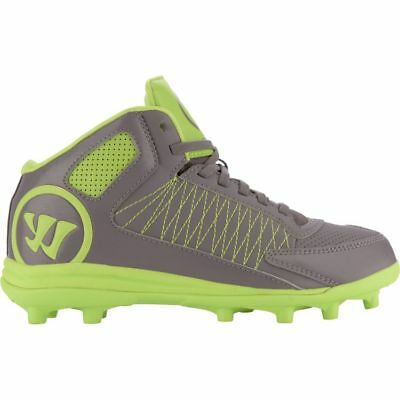 Warrior Vex 3.0 Youth Lacrosse Cleats Gray & Lime Kids Size 2.5 NEW