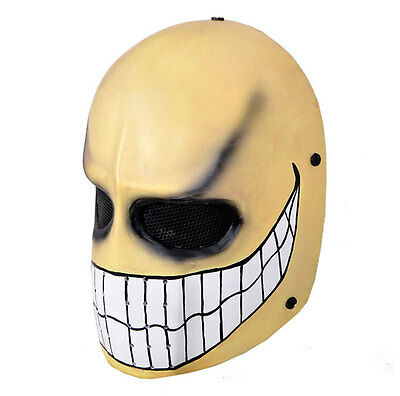 NEW Full Face Wire Mesh Protection Airsoft Paintball Skull Mask PROP Cosplay M69