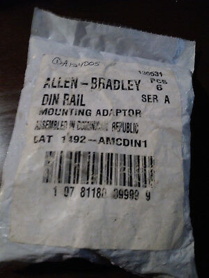 Allen Bradley 1492-AMCDIN1 CB Accy, Mounting Adapter; Bag of 6