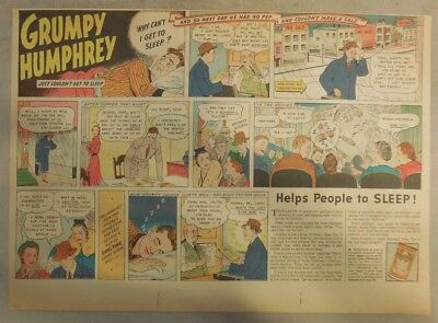"""Ovaltine Drink Ad: """"Grumpy Humphrey !""""  from 1930's-1940's 11 x 15 inches"""