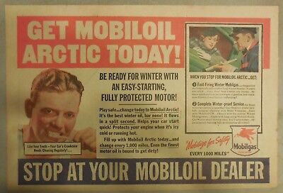"Mobil  Gas Ad: ""Get Mobil Arctic Todayl!""  from 1937 Size: 11 x 15 inches"