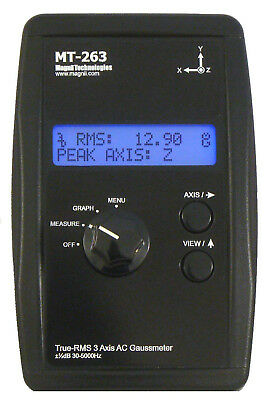 Magnii Technologies MT-263 Tru-RMS 3-Axis AC Gaussmeter - Barely Used