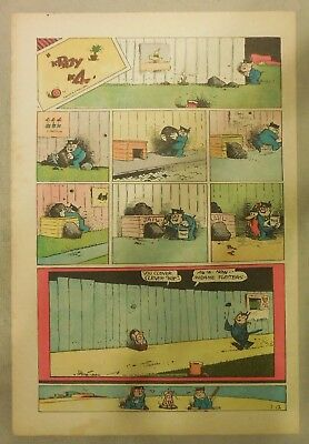 Krazy Kat Sunday by George Herriman from 7/12/1942 Tabloid Size Page