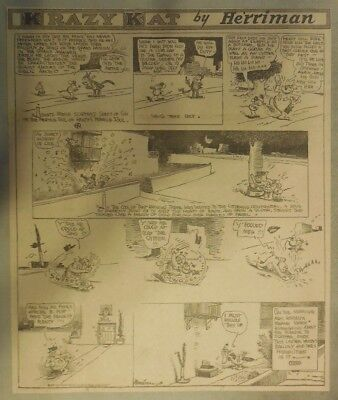 Krazy Kat Sunday by George Herriman from ?/1930 Tabloid Size Page