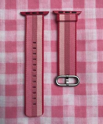 Berry Stripe 38mm/40mm Apple Watch Woven Nylon Band (Genuine/Authentic/OEM) NEW