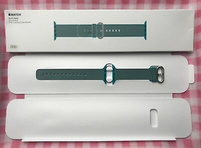 Scuba Blue 38mm/40mm Apple Watch Woven Nylon Band (Genuine/Authentic/OEM) NEW