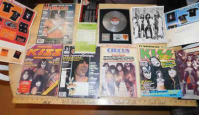 KISS Army Posters, Magazines, Photos, Order Forms Vintage Lot