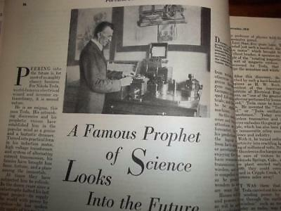 1928 Nikola Tesla The Famous Prophet Of Science Looks Into The Future. + More